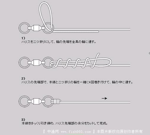 主线与八字环的绑法